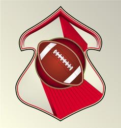 gridiron football vector image vector image