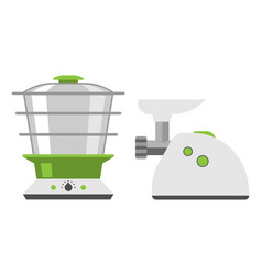Home appliances meat grinder cooking kitchen home vector