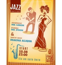 Jazz music festival vintage poster vector