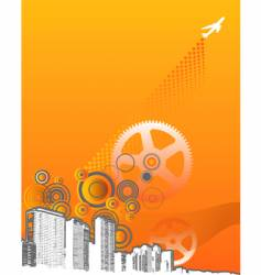 machine grunge city vector image vector image