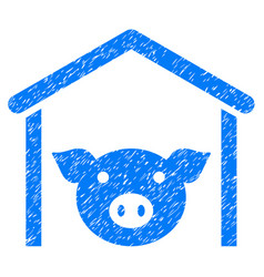 Pig farm icon grunge watermark vector