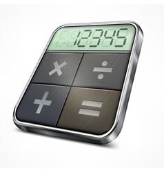 Pocket calculator on white vector