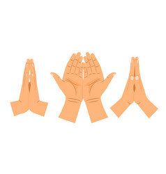 Religion praying hands vector