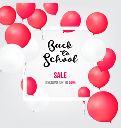 sale shopping banners back to school sale icons vector image