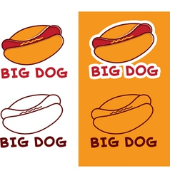 Set of hot dog vector