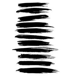 Strokes lines paint dab stripes set vector