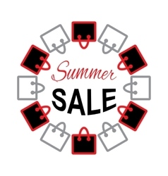 Summer sale text on bag design vector