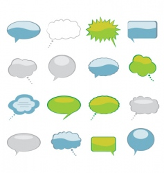 talk bubbles vector image vector image