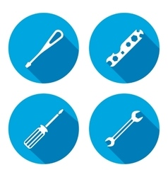 Tool icon Spanner nut wrench screwdriver vector image