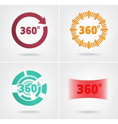 360 degrees view sign vector