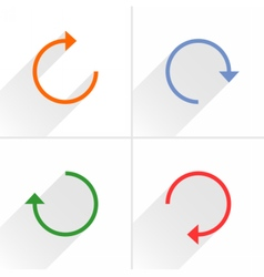 Arrow icon refresh reset repeat reload sign vector