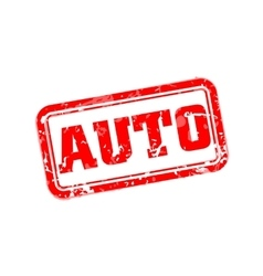 Auto rubber stamp vector image