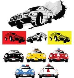Action movie car vector image