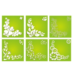 floral invitations set vector image