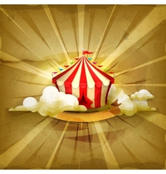 Circus old style background vector