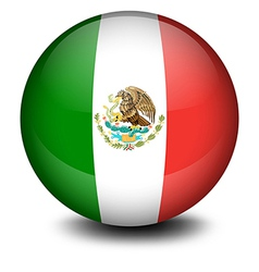 A soccer ball from Mexico vector image