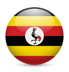 Round glossy icon of uganda vector