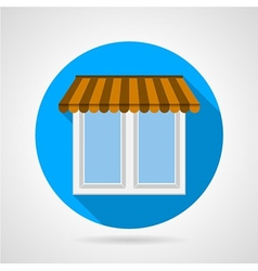 Flat icon for window with canopy vector image
