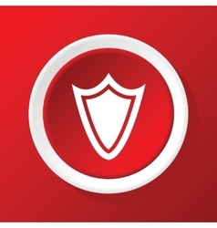 Shield icon on red vector