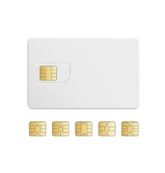 Mobile cellular phone sim card chip set vector