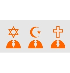 Religious icons as humans head vector