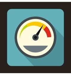Speedometer custom icon flat style vector