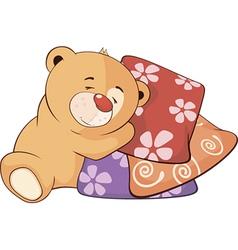 A stuffed toy bear cub cartoon vector