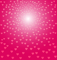 Abstract pink hearts background vector image vector image