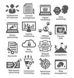 Business management icons pack 24 vector