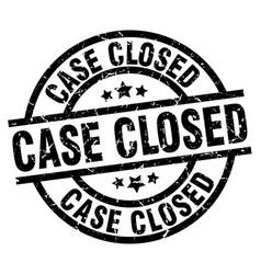 Case closed round grunge black stamp vector