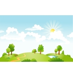 Countryside panorama in the morning vector image vector image