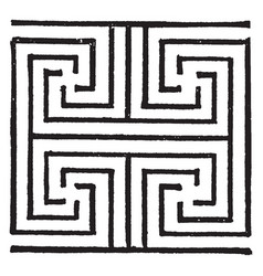 Cretan ornament is a fret pattern from knossos vector