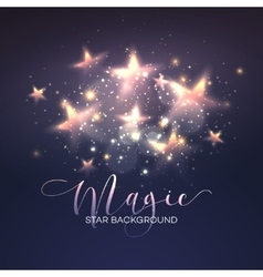 Defocused magic star background vector image
