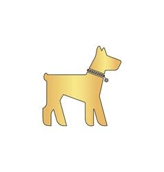 Dog computer symbol vector