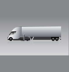 Electric truck with trailer vector