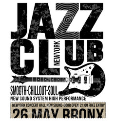 Jazz club concert music poster design tee graphic vector