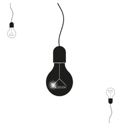 light bulb icon with vector image