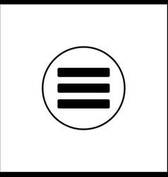 Menu solid icon mobile sign and hamburger vector