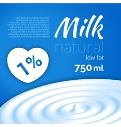 Milk design Milk wave blue triangle background vector image vector image