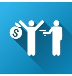 Robbery gradient square icon vector