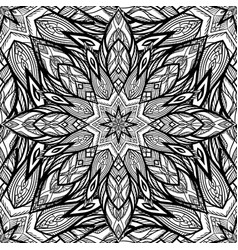 Seamless black and white snowflake texture vector