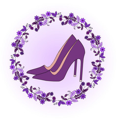 set of colorful fashion womens shoes vector image vector image