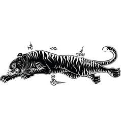 thai tradition tattootiger vector image vector image