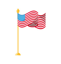 United states flag symbol vector