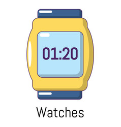 watches icon cartoon style vector image