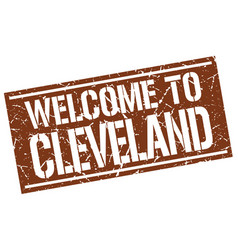 Welcome to cleveland stamp vector