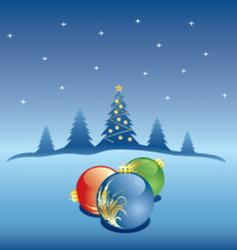 winter Christmas snow vector image vector image