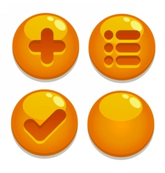 A set of buttons for gaming interfaces vector