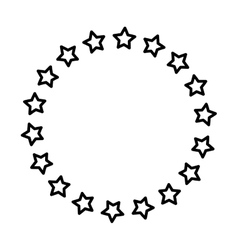 Stars in circle vector