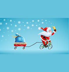 Santa claus with bell vector